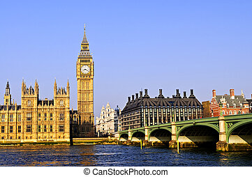 Big Ben and Westminster bridge - Big Ben and Westminster...