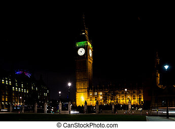 big ben at night london uk