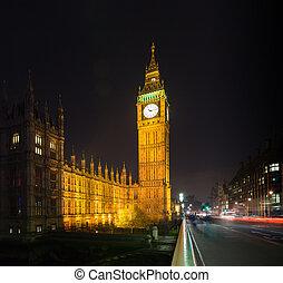 big ben at night london uk