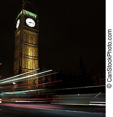 Big Ben at night. Taken with tripod in London