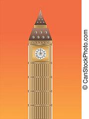 Big Ben at sundown