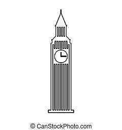 big ben building isolated icon