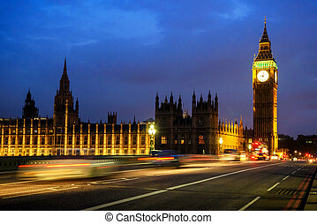 Big Ben Clock Tower and House of Parliament in the night, London, UK