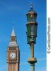 Big Ben - clock tower at the Houses of Parliament London, UK