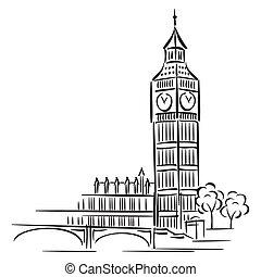 Big Ben - vector images of Big Ben in London