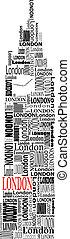 big ben - abstract big ben with words London