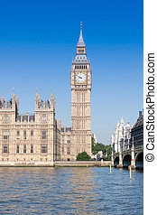 Big ben, Houses of parliament on bright sunny morning