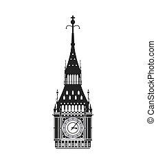 big ben icon. United kingdom design. Vector graphic - United...
