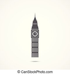 Big Ben icon Vector Illustration - Big Ben icon on white...
