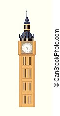 Big Ben illustration - Big Ben in flat style isolated on...