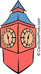 Big Ben in London icon cartoon