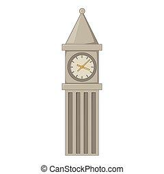 Big Ben in London icon, cartoon style