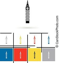 Big Ben in London icon vector