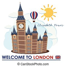 Big Ben in London Landmark