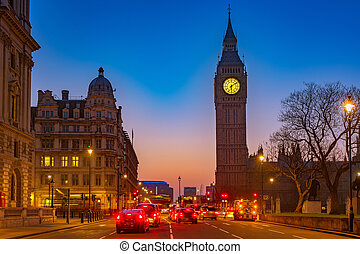 big ben, in, london, nacht