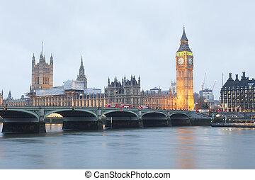big ben, in, london, stadt, vereinigtes königreich