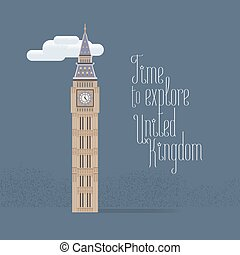 Big Ben in London vector illustration
