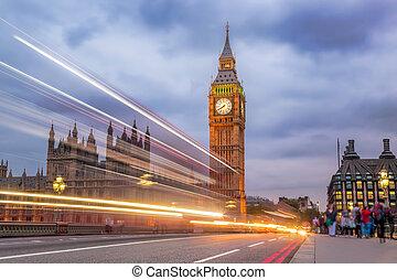 Big Ben in the evening, London, England, UK