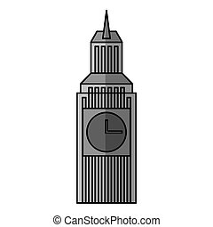 big ben isolated icon