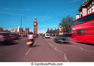 Big Ben, london and Red Bus