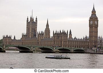 Big Ben, London gothic architecture, UK