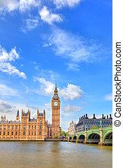 Big Ben, London, UK - View on Big Ben, London, UK