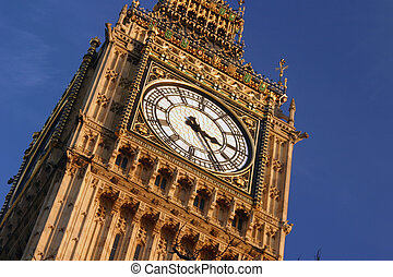 Big Ben - Londons most famous clock tower, adjasent to the...