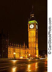 big ben, nacht, london