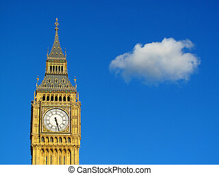 Big Ben of the Houses Of Parliament which were built on the...