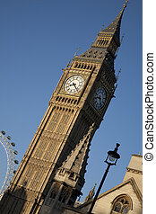 Big Ben on Tilted Angle; London, England, UK