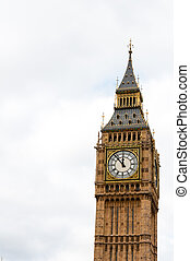 Big Ben, or St Stephen's Tower, in Westminster, London, UK