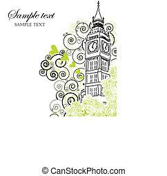Big Ben Poster, Cover or Greeting card - Illustration of Big...