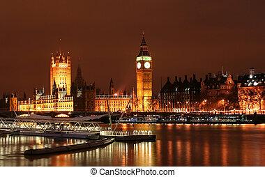 Big Ben London, UK during night time