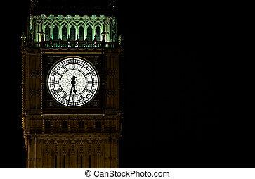big ben - Houses of parliament and big ben at night, London,...