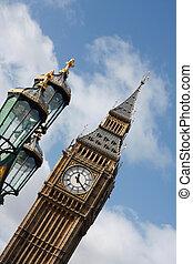 Big Ben and a street light