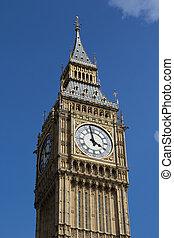 Big Ben - Close up of Big Ben in London, England.