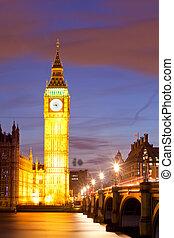 Big Ben sunset twilight