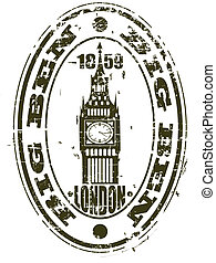 BIG BEN - The vector image of the London sight in the form...