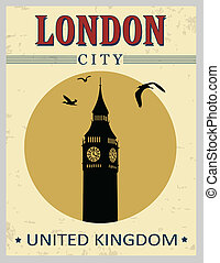 Big ben tower from London poster