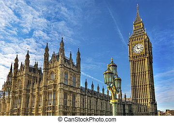 Big Ben Tower Houses of Parliament Westminster London England