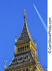 Big Ben Tower Westminster Parliament London England