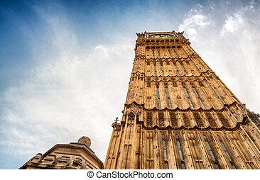 big ben, und, häuser parlaments, -, london, vereinigtes königreich