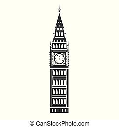 Big Ben vector icon