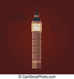 Big Ben Vector Illustration in Flat Design