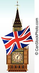 Big Ben With Union Flag