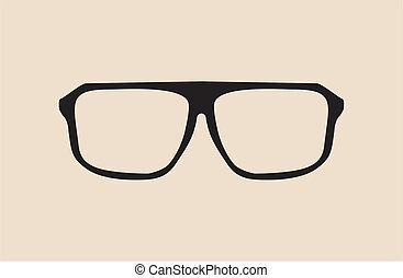 Big black hipster glasses - vector - Black vector glasses...