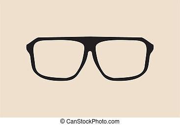Big black hipster glasses - vector - Black vector glasses...