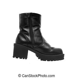Big Black Leather Boot