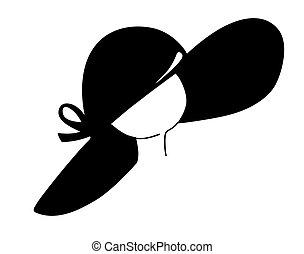 big blackenning hat on white background, vector illustration