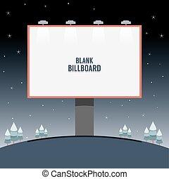 Big Blank Advertising Billboard.